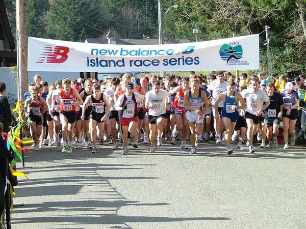 2004 Hatley Castle 8K - The narrow road at the start