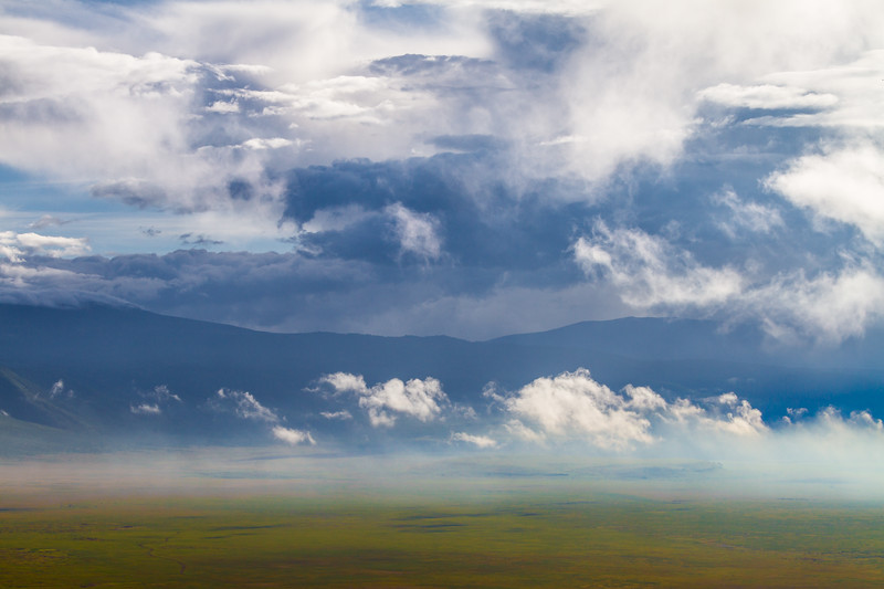 View of clouds with mountain - East Africa - Tanzania