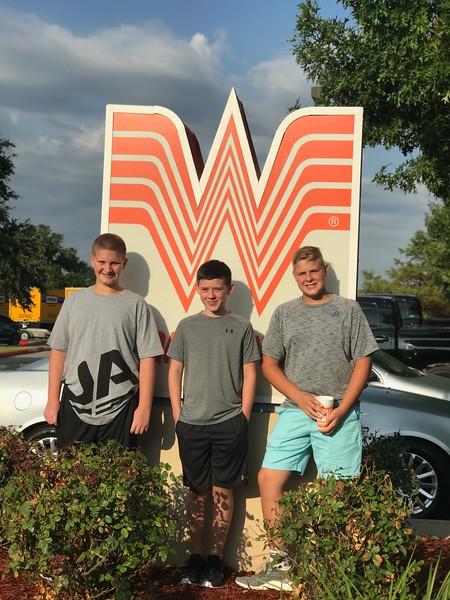 Jax, Graydon and Brock   8th grade   Henry Middle School