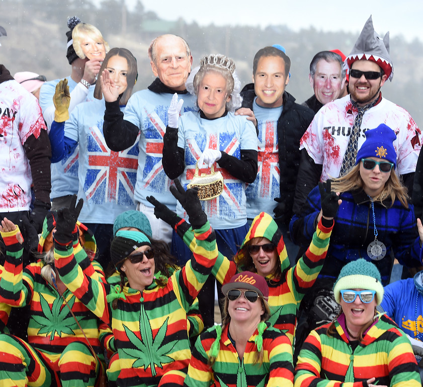 . The Brits and Americans on the photo podium  on Saturday during 2018 Frozen Dead Guy Days in Nederland. The festival continues on Sunday. For more photos, go to dailycamera.com. Cliff Grassmick  Photographer  March 10, 2018