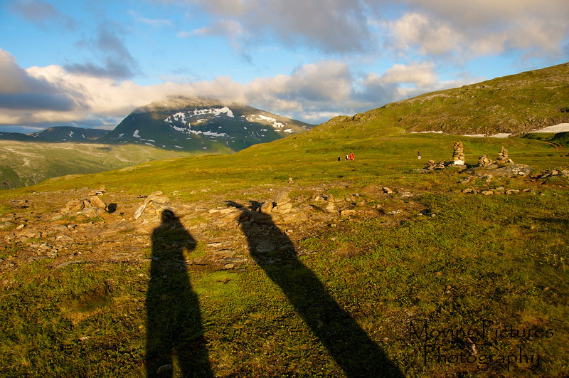 Tromso, Norway - view from Fjellheissen (cable car) - long shadows at 9PM