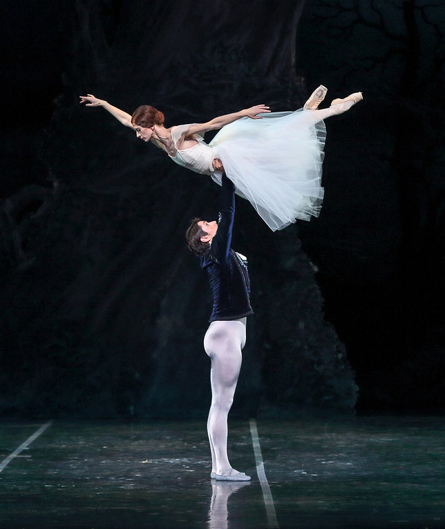". 5. Maria Mosina dances in the Colorado Balletís Giselle Oct. 4.  Mosina is a full-fledged ballet star and nailed the cherished role, mostly on one leg. Here she gets a lift from Alexei Tyukov in Colorado Ballet\'s ""Giselle.\"" Photo from Colorado Ballet."