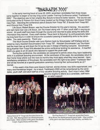 July 2000 Troop Talk - Volume 1, Issue 6