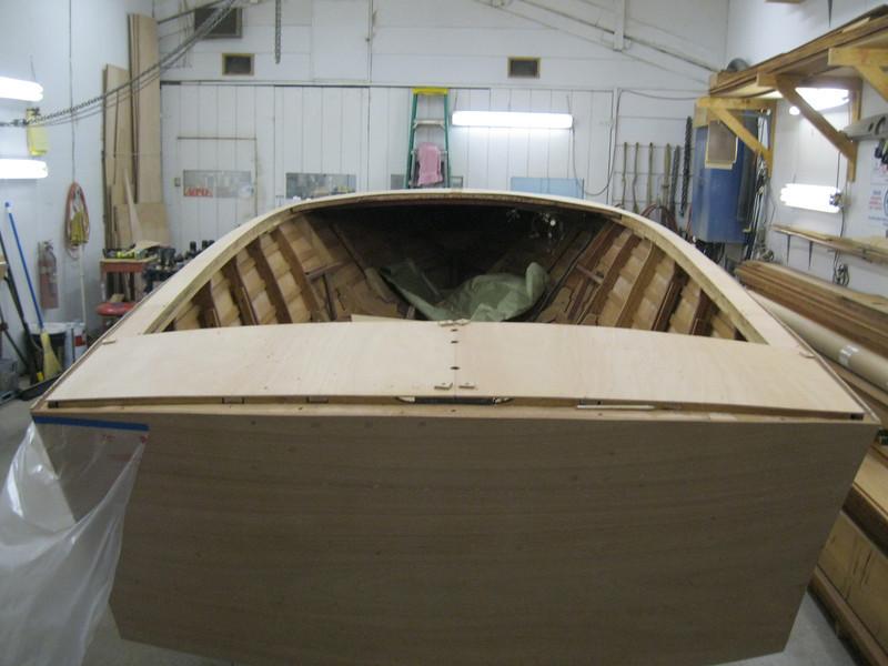 Rear deck plywood fit.