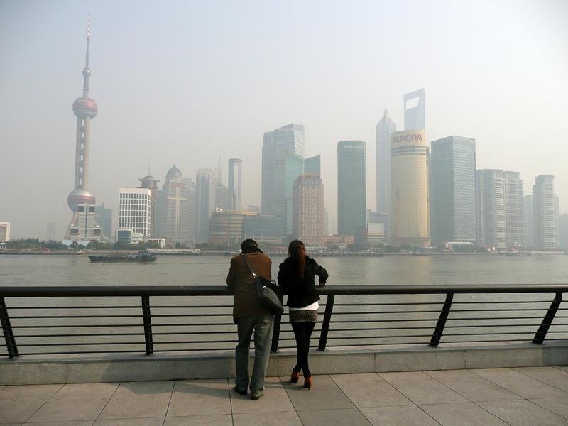 Shanghai Bund views, Jan 2011