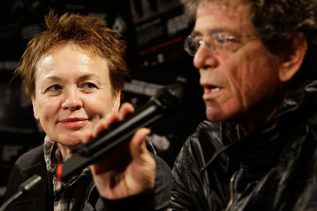 . American musicians Lou Reed and Laurie Anderson attend a media conference to launch the Vivid LIVE program at Sydney Opera House on May 28, 2010 in Sydney, Australia. Vivid LIVE, part of the Vivid Sydney Festival, is curated by Reed and Anderson which will feature a number of concerts, small intimate evenings and various free events.  (Photo by Brendon Thorne/Getty Images)