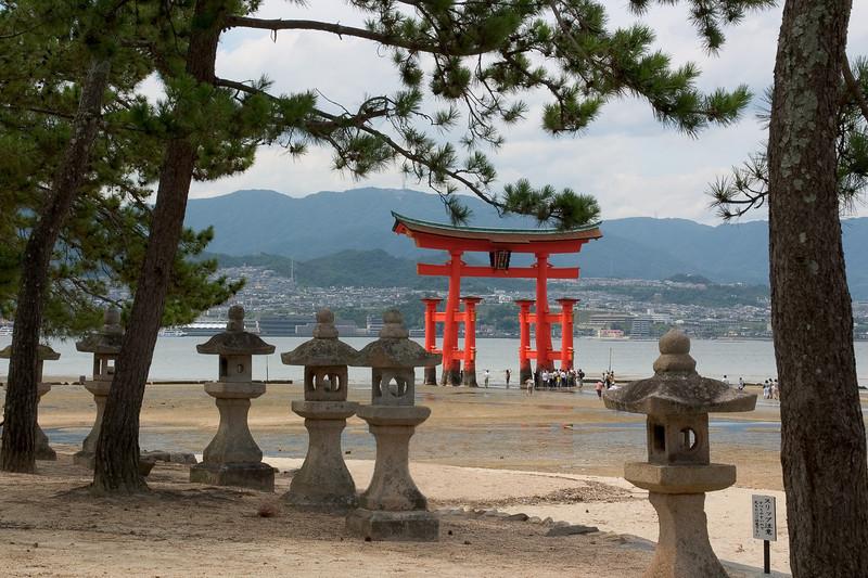 "Torii at the Itsukushima Shrine, Hiroshima 22""x15"""