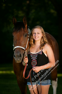Emma senior portraits with horses