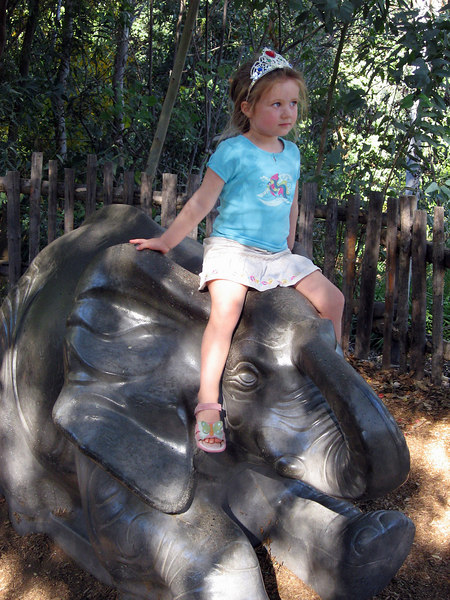 10/20 - Baby elephant sculpture in the Wild Animal Park