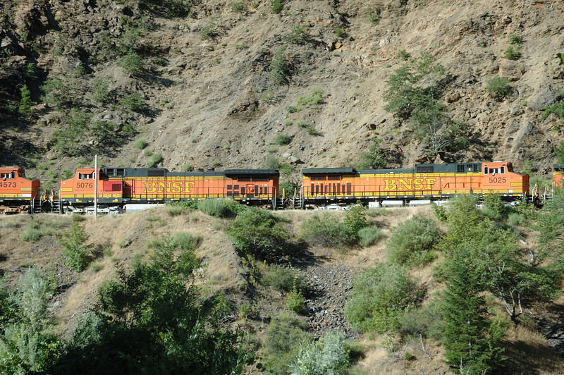 BNSF Engines in the Feather River Canyon