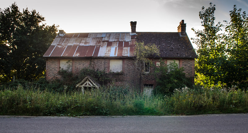 Derelict houses at Uckfield