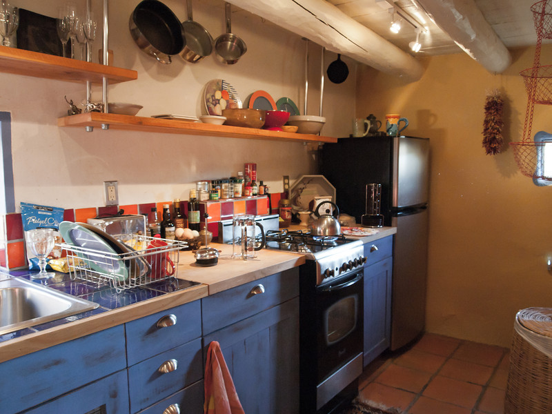 5/25 - here is the kitchen - small but cute and efficient.