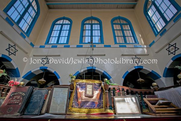 TUNISIA, Djerba, Hara Kebira. Synagogue Rabbi Bisal El (3.2016)
