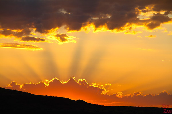 Asked and experienced an amazing Namibian sunset