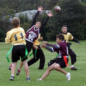 CMS Sr Football 2008 Game 3 vs Holy Name of Mary Loss 6-16