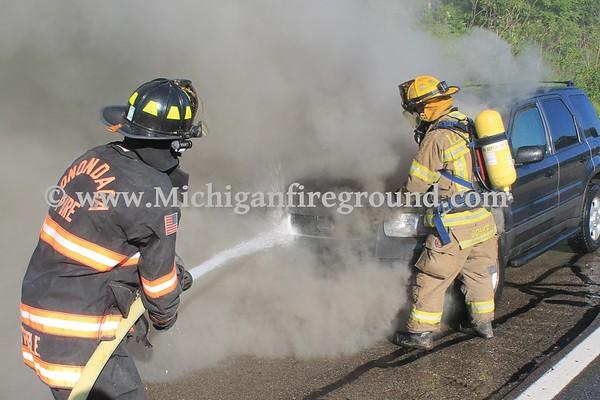 7/22/16 - Leslie car fire, US-127 north of Baseline Rd