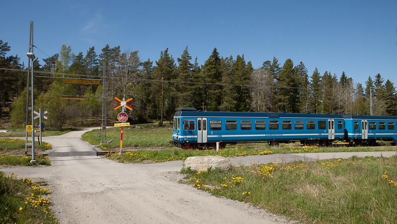 Roslagsbanan 149 near Lindholmen.