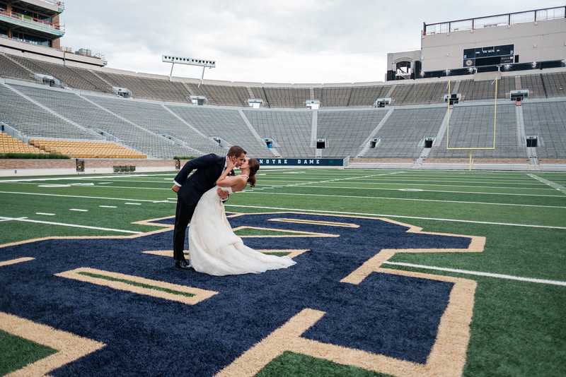 Notre Dame Stadium Wedding Photos