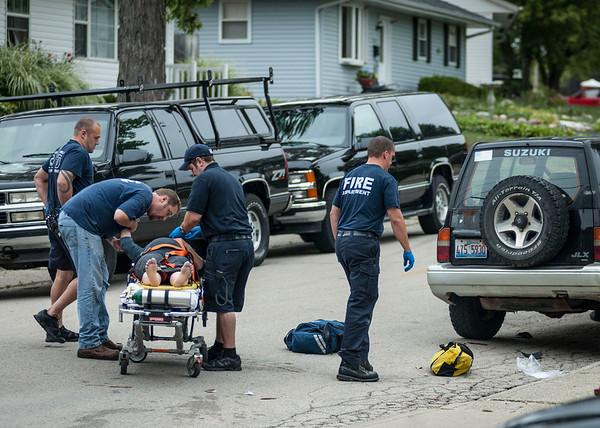 Carpentersville - Mother & Child hit by vehicle - Sept. 13, 2012