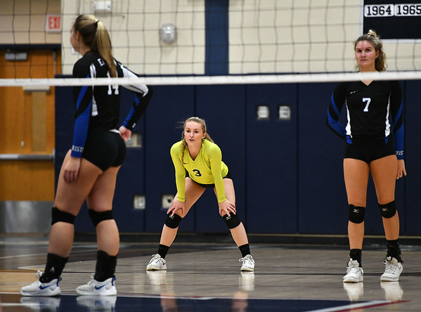11/7/2019 Mike Orazzi | StaffrBristol Eastern's Rebecca Bender (3) during the CCC girls volleyball tournament at Avon High School on Thursday.