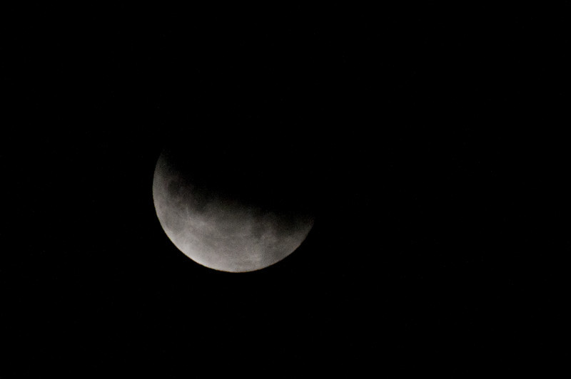 Lunar Eclipse Partial Moon @ 4:15am Saturday, June 26, 2010