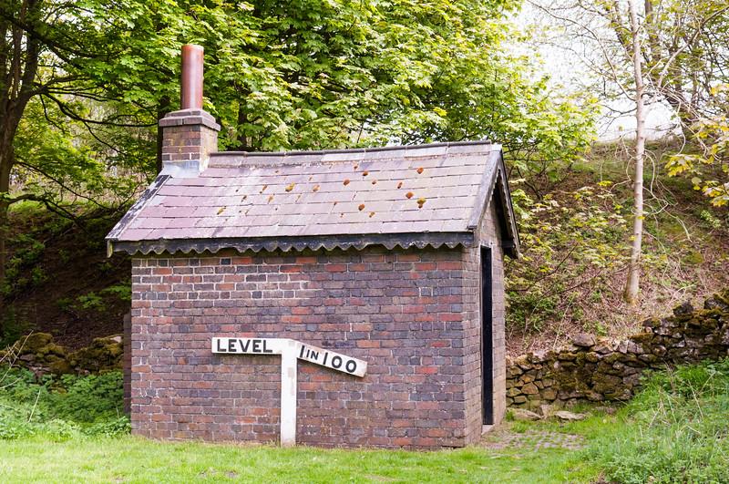 Old railway trackside hut
