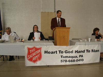Board Member, Volunteer Dinner, Salvation Army, Tamaqua (6-24-2011)