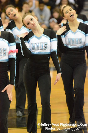 2-14-2015 Walt Whitman HS Varsity Poms at Richard Montgomery HS MCPS Championship, Photos by Jeffrey Vogt Photography with Kyle Hall