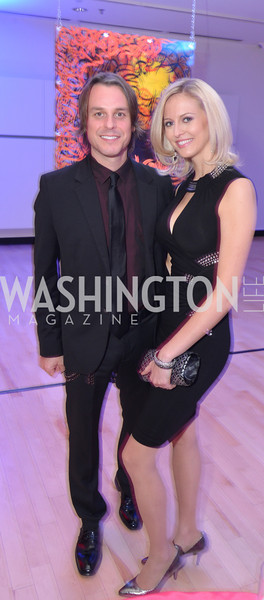 Ryan Newell, Carla Babb, Washington Life Magazine hosts the 8th Annual Young and the Guest List party at the Carnegie Library.  Photo by Ben Droz.