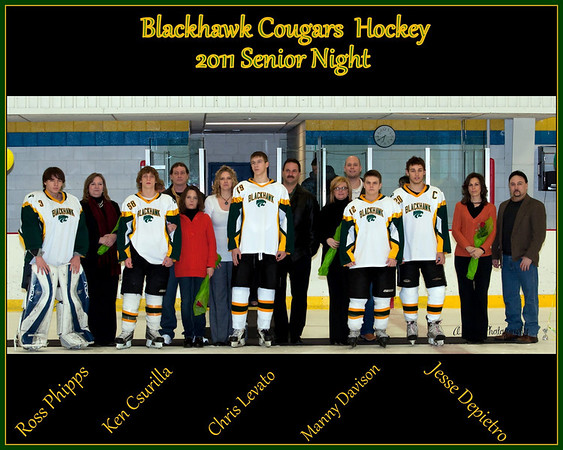 Blackhawk Hockey Senior Night