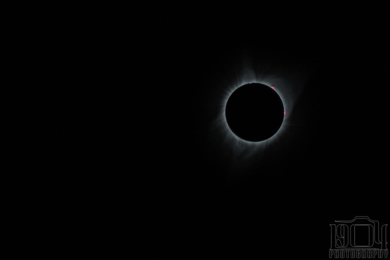 An HDR image of the solar eclipse in August of 2017, shot from Idaho.