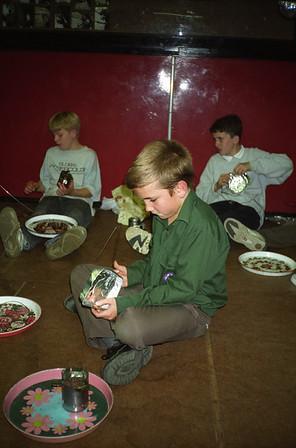Scouts Foil Cooking