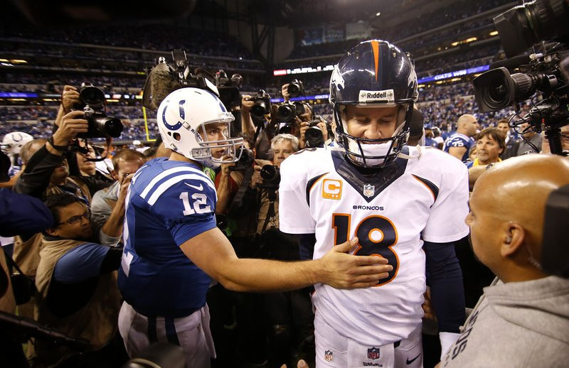. <p><b> Redskins at Broncos (-12½):</b>  <p>Peyton Manning missed his first practice as a Bronco on Wednesday because of an injured ankle. We can�t wait for that news to reach Colts owner Jim Irsay so he can point out that Tom Brady won three Super Bowls with his ankles. <p>Pick: <b>Broncos by 7</b> <p>    (Sam Riche/MCT)