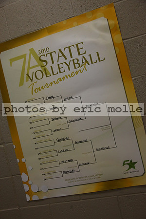 Fayetteville at Bentonville - 7A Volleyball State Championship - 10/30/2010
