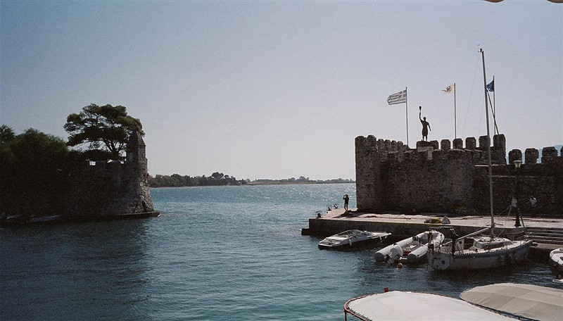 Nafpaktos waterfront, NE of bridge