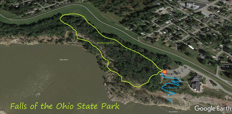Falls of the Ohio State Park Hike Route Map