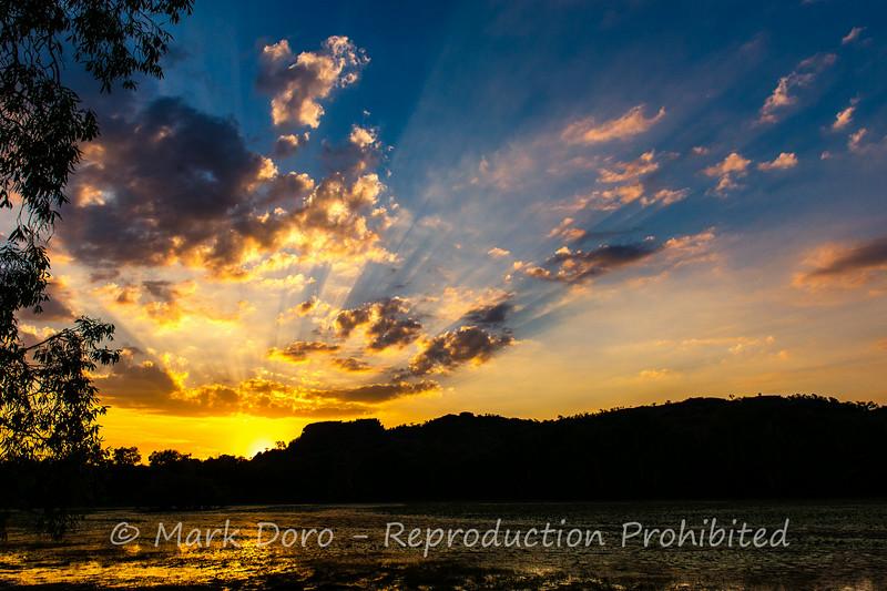 Sunset over Anbangbang Billabong, Kakadu, Northern Territory