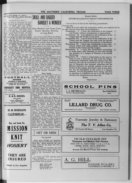The Southern California Trojan, Vol. 11, No. 42, January 13, 1920