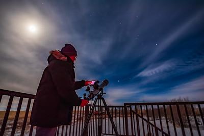 Selfie with Celestron StarSense 80mm LT Telescope
