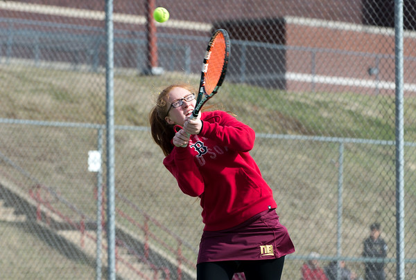 New Britain girls tennis took on Wilcox Tech in their first matches of the season on Tuesday afternoon. Juju Oliver. Wesley Bunnell | Staff