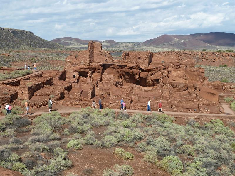 ruins of masony pueblos