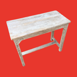 White Wash Side Table