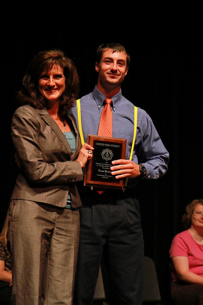 Student Leadership, Service and Volunteerism Recognition Program; Aprl 26, 2011. Outstanding Student Government Association Member: Evan Brusich