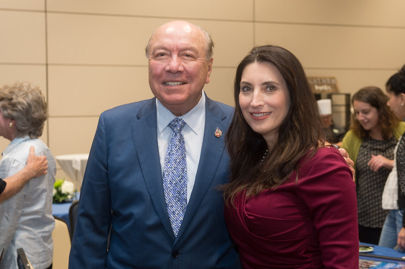 Senator Chuy Hinojosa (left), and Barbara Canales.