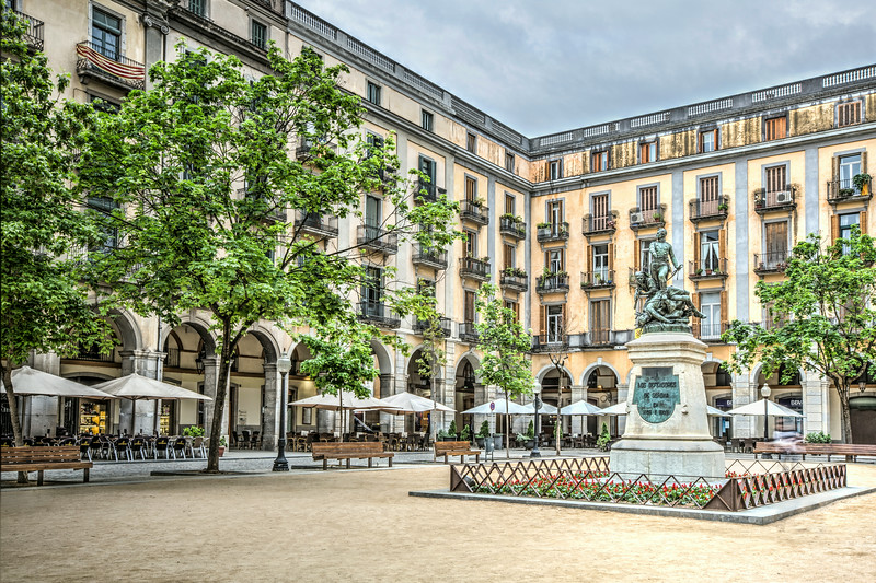 Independence Square in Girona (Catalonia)