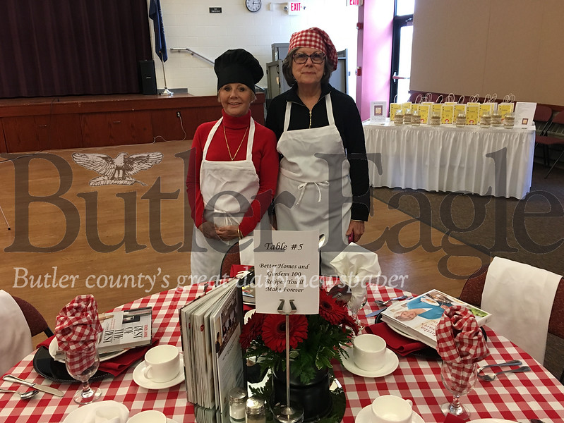 "Left Ellen Romett of Butler and Sandy Baker of Butler. Rommett, a special educator said ""You have to be able to read and do math to cook. To teach adults it has to be functional.""Photo Lauryn Halahurich"