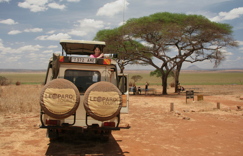 How I spent most of our time in Africa, camera in hand!!