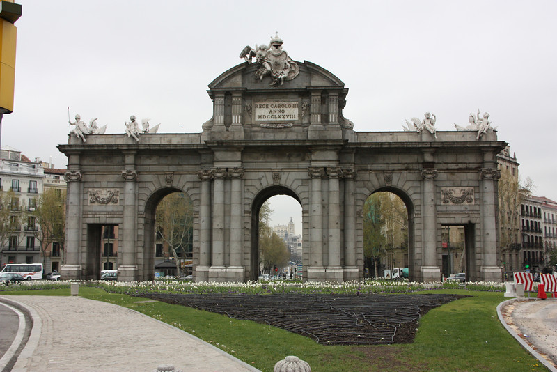 Fancy arch in Madrid.