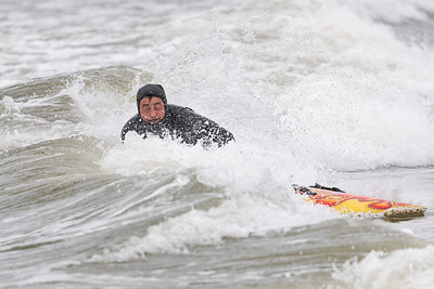 Marv Weiss and John Cilento Surfing Pacific Beach, Long Beach 3-15-20