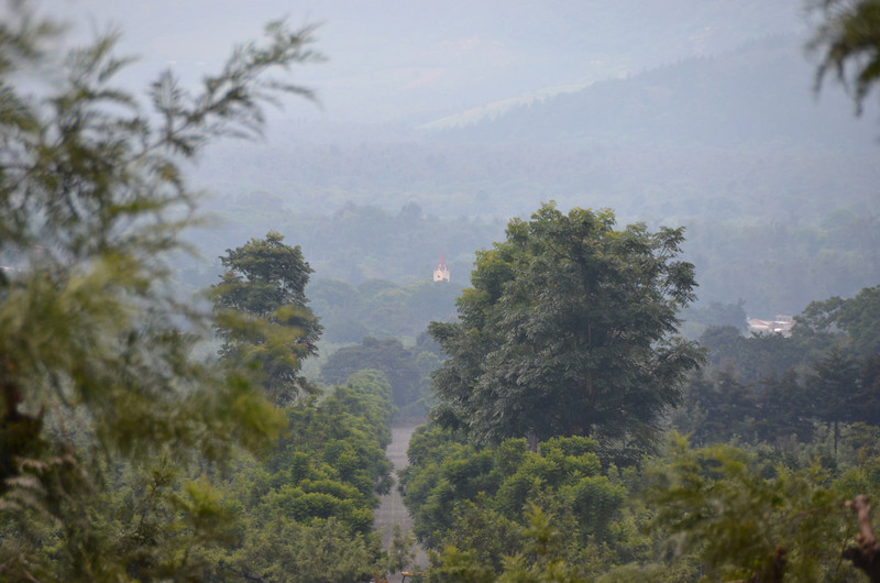 View of San Felipe Church from top of Finca la Folie owner's home